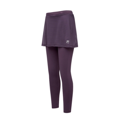 FILA 女萊卡針織裙褲-紫色 5PNT-5605-PL