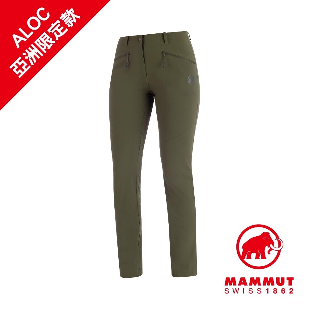 【Mammut】Trekkers2.0 防潑長褲 綠鬣蜥 女款#1021-00420