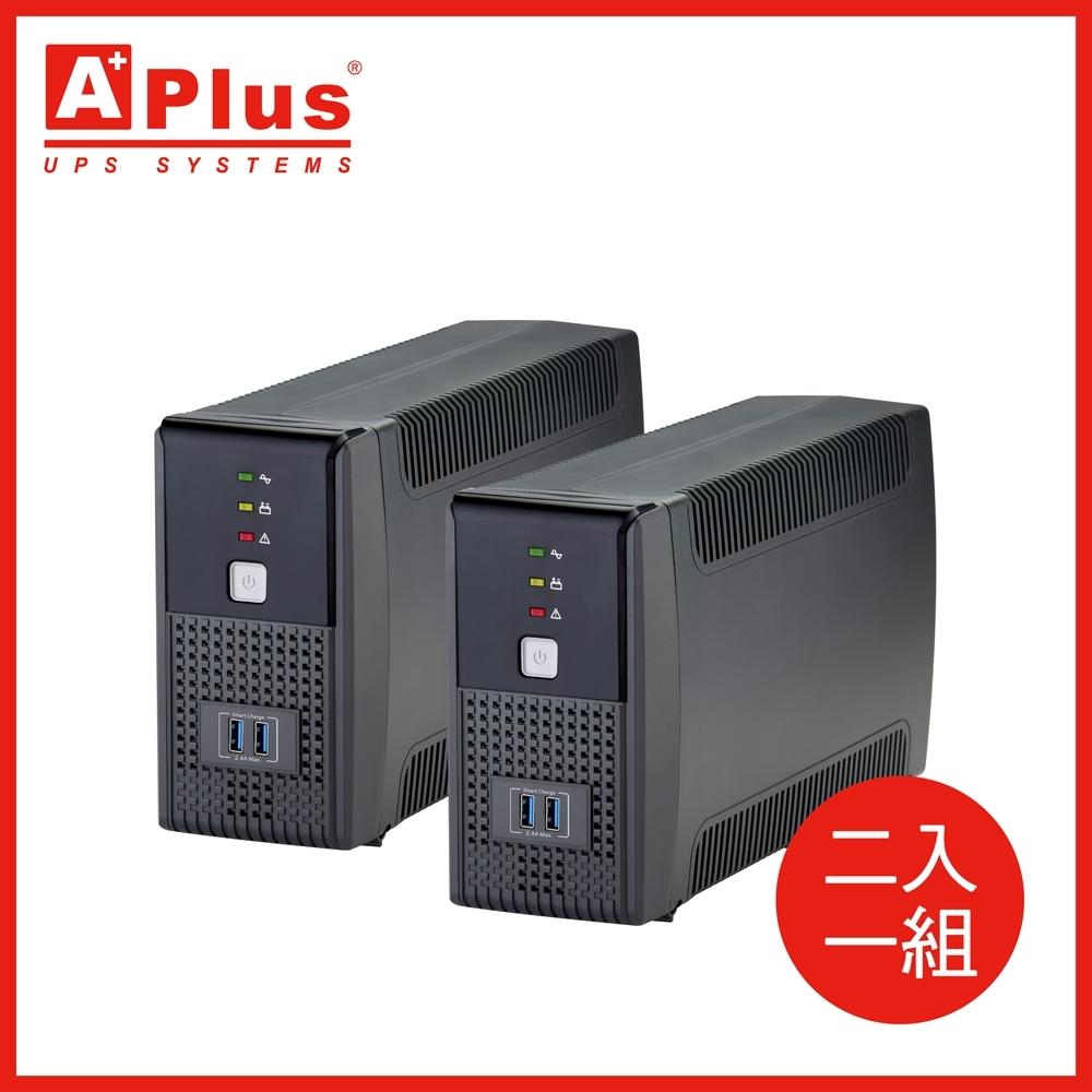 特優Aplus 在線互動式UPS Plus1E-US600N(600VA/360W)-兩入組