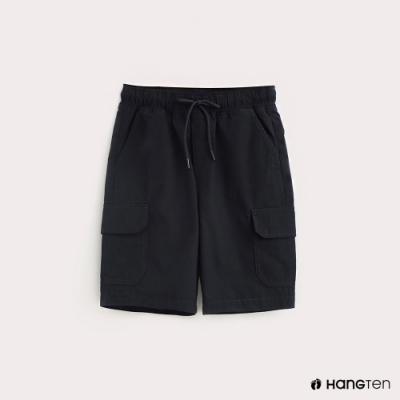 Hang Ten-ThermoContro-童裝鬆緊綁帶機能短褲-深藍