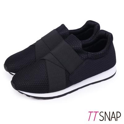 TTSNAP運動鞋-MIT超輕量透氣耐震慢跑鞋 黑