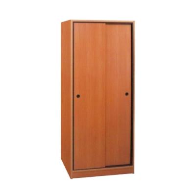 韓菲-南方松色塑鋼拉門衣櫃-81.5x60x200cm