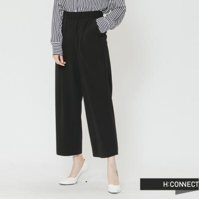 H:CONNECT 韓國品牌 女裝-質感純色寬褲-黑(快)