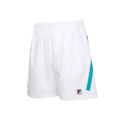 FILA 男抗UV平織短褲-白色 1SHT-5005-WT