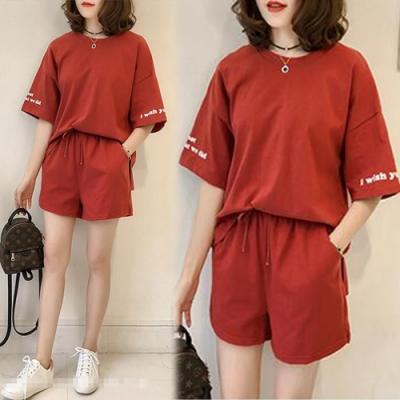 【韓國K.W.】(預購)清新風格休閒套裝褲-2色