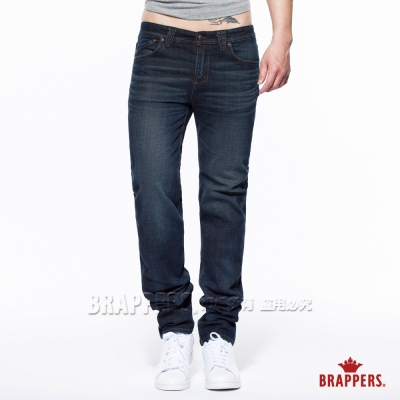 BRAPPERS 男款 HM中腰系列 男用中腰彈性直筒褲-水洗藍