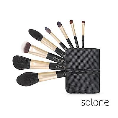 Solone 專業彩妝刷8件組 (Hello Kitty限定版) 附編織紋刷具包
