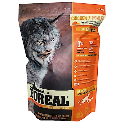 BOREAL 無穀沃野鮮雞肉全貓配方 12磅