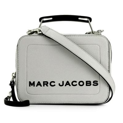 MARC JACOBS THE BOX 20 素面皮革兩用包-灰色