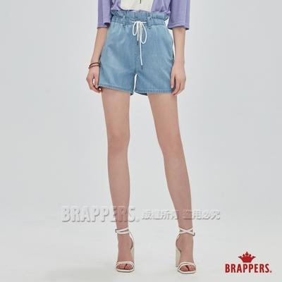 BRAPPERS 女款 Boy friend系列-高腰全棉短褲-淺藍