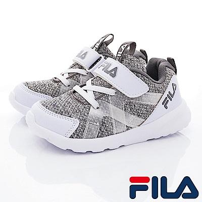 FILA頂級童鞋 輕量簡約運動款 EI25S-144灰(中大童段)