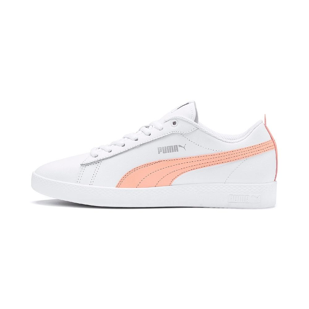 PUMA-Smash Wns v2 L 女性復古網球運動鞋-白色