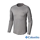 Columbia哥倫比亞 男款-防曬UPF50快排長袖上衣-灰色