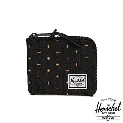 Herschel Johnny 零錢包-黑色黃十字