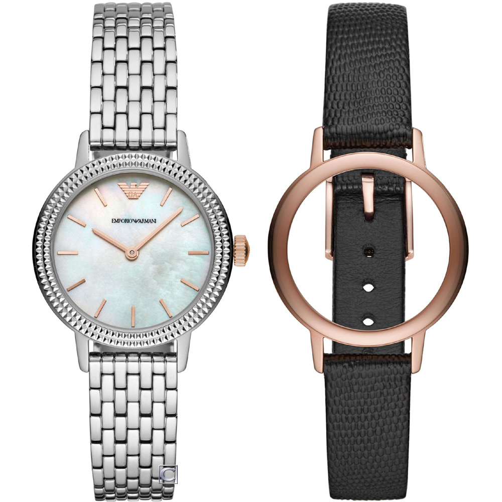 Emporio Armani INTERCHANGE 雙錶帶框套組(AR80020)32m