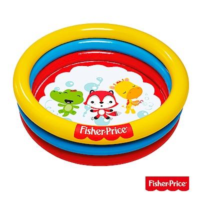 凡太奇 Fisher-Price 三環充氣泳池球池兩用池 附25顆球 93501 - 速