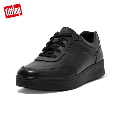 【FitFlop】RALLY SUEDE SLIP-ON SNEAKERS 易穿脫時尚休閒鞋-女(靓黑色)