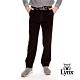 【Lynx Golf】男款彈性舒適燈芯絨平口休閒長褲-黑色 product thumbnail 2