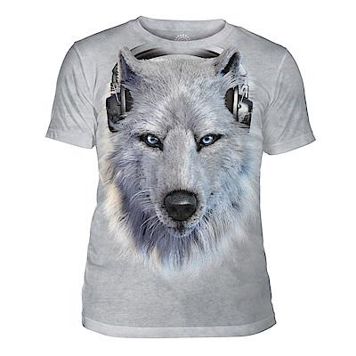 摩達客 美國The Mountain都會系列 DJ白狼 中性修身短袖T恤