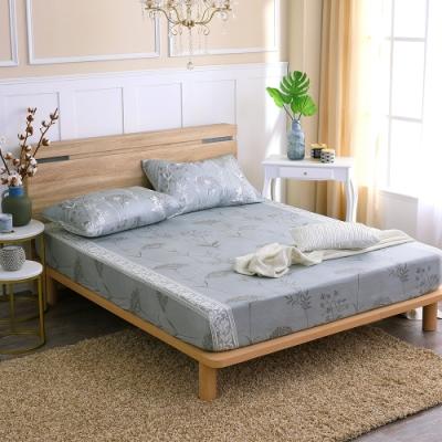 鴻宇 100%精梳棉 艾米堤 灰 雙人特大床包枕套三件組