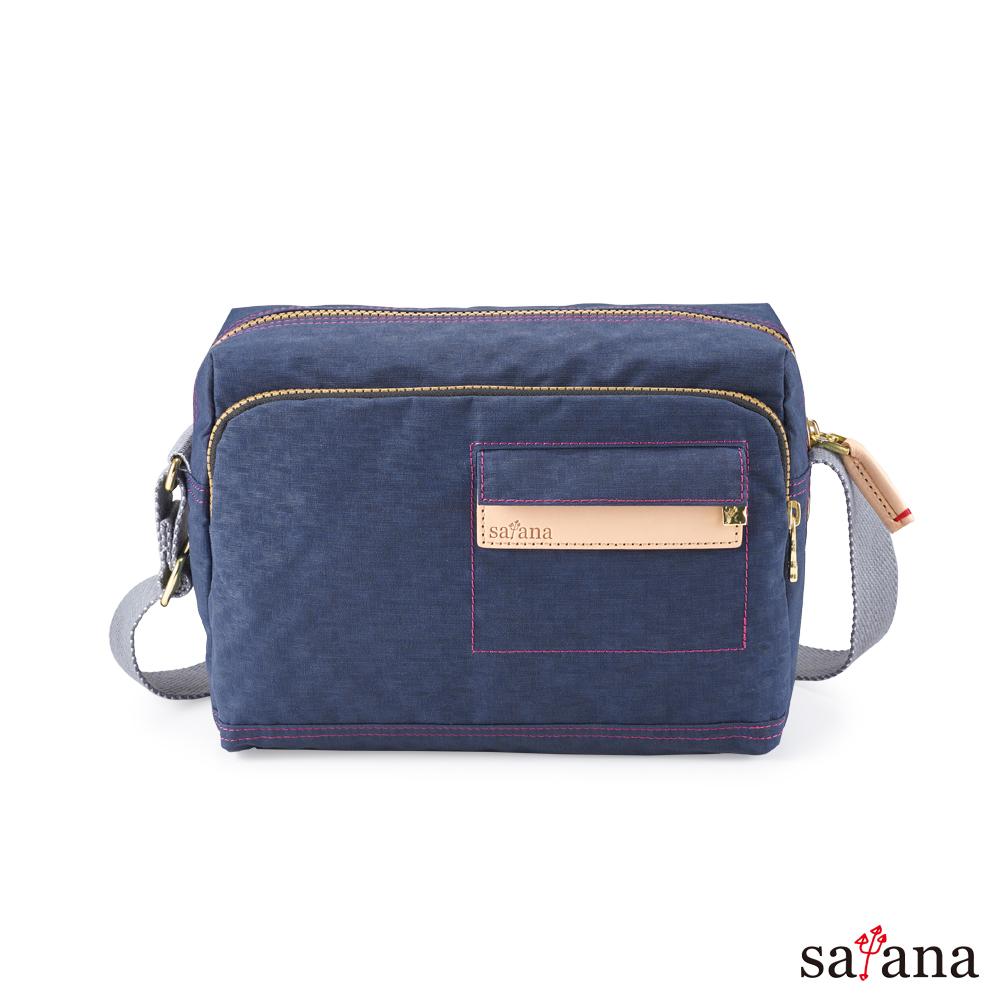 satana - Soldier 簡約斜背包 - 礦青藍