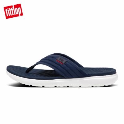 FitFlop KIAN CROSSHATCH TOE-THONGS夾腳涼鞋-男(海藍色)