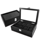 低調奢華 手錶收藏盒 配件收納 腕錶收藏盒 8入收藏 實木質感 - 黑色