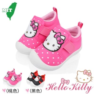 Hello Kitty童鞋 護趾輕量抗菌防臭減壓寶寶學步鞋-可當室內鞋-桃.紅