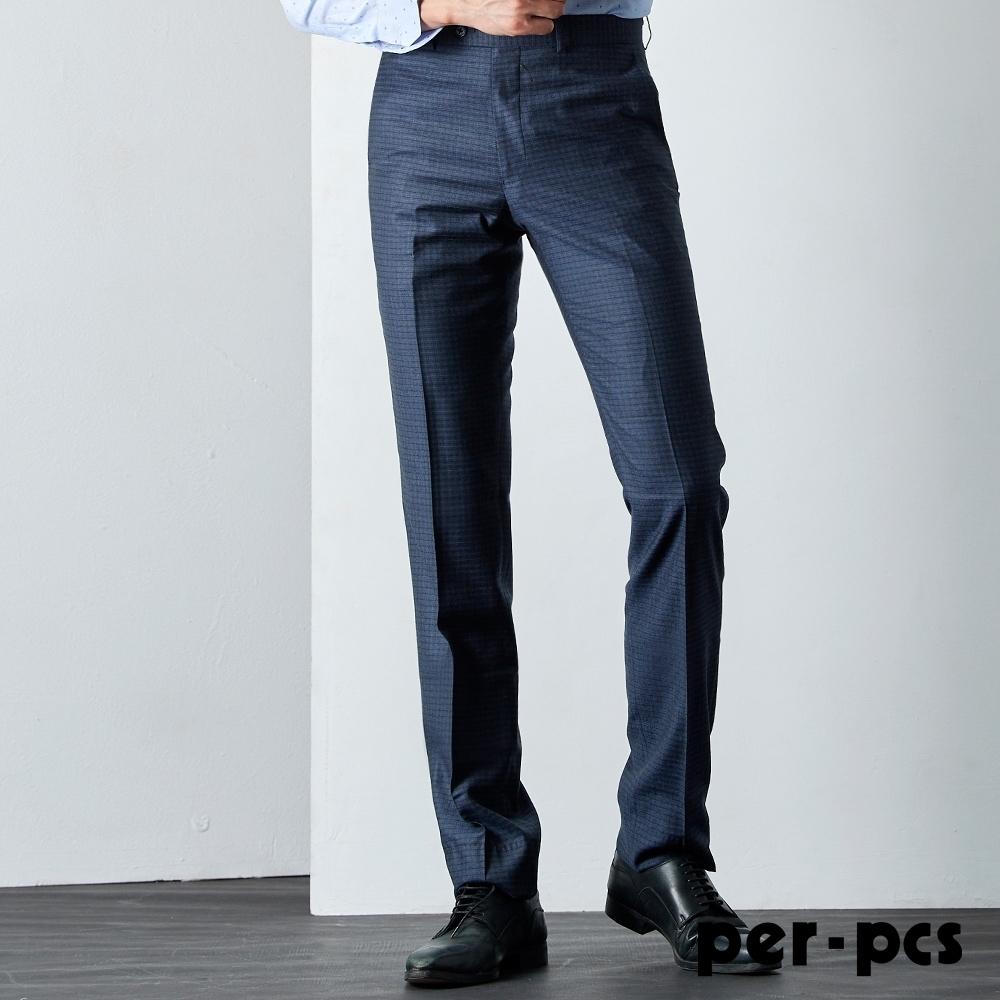 per-pcs 英倫品味平面西裝褲_藍(816109)