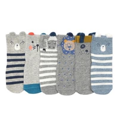JoyNa【6入】童襪嬰兒襪子寶寶防滑襪-可愛動物造型短襪