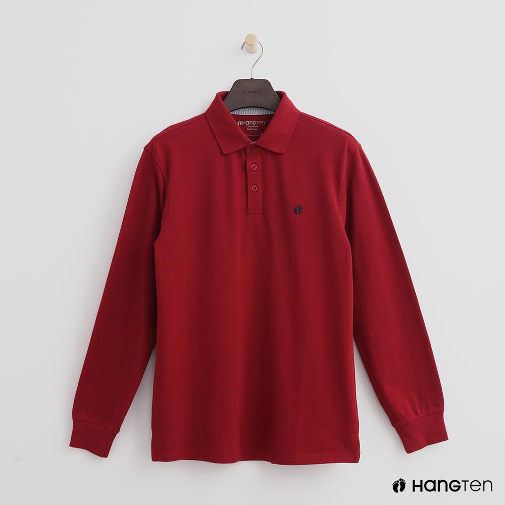Hang Ten - 男裝 - 經典純色POLO衫-紅色