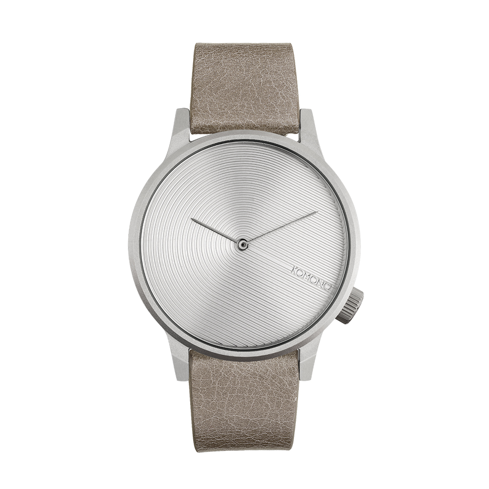 KOMONO Winston Deco 腕錶-奶茶杏/41mm