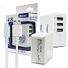 TOPCOM 4.8A 3port 充電器 配 Xs/XR/Xs/i8/i7傳輸充電線