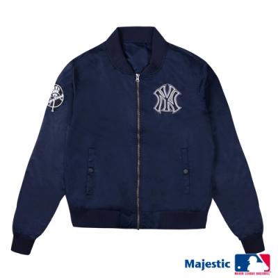 MLB - 洋基隊LOGO縮口薄外套-深藍 (女)