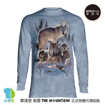 摩達客 美國進口The Mountain  雪狼家族 純棉長袖T恤
