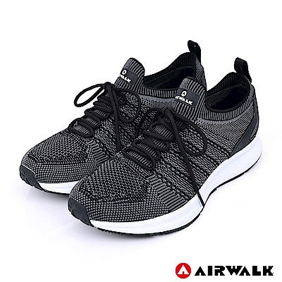 【AIRWALK】追夢先鋒編織鞋(男)-黑色
