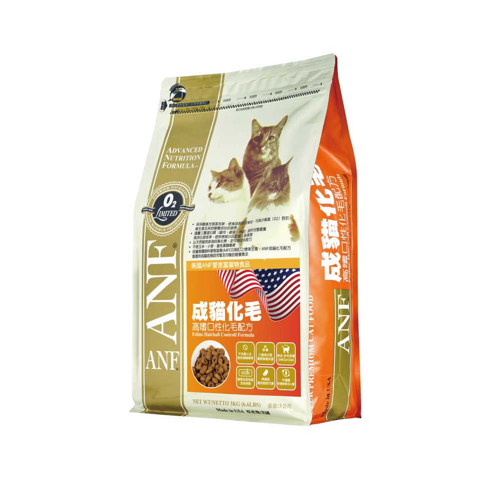 【ANF 愛恩富】成貓化毛配方 1.5kg(完美比例的三重蛋白質)