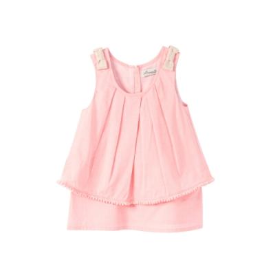 小雛菊 MARGUERITE 橘粉球球短裙套裝 (90cm~120cm)