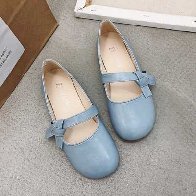 KEITH-WILL時尚鞋館 好感吸晴甜蜜俏皮豆豆鞋-藍