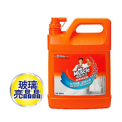 威猛先生 玻璃清潔劑加侖桶 4000ml