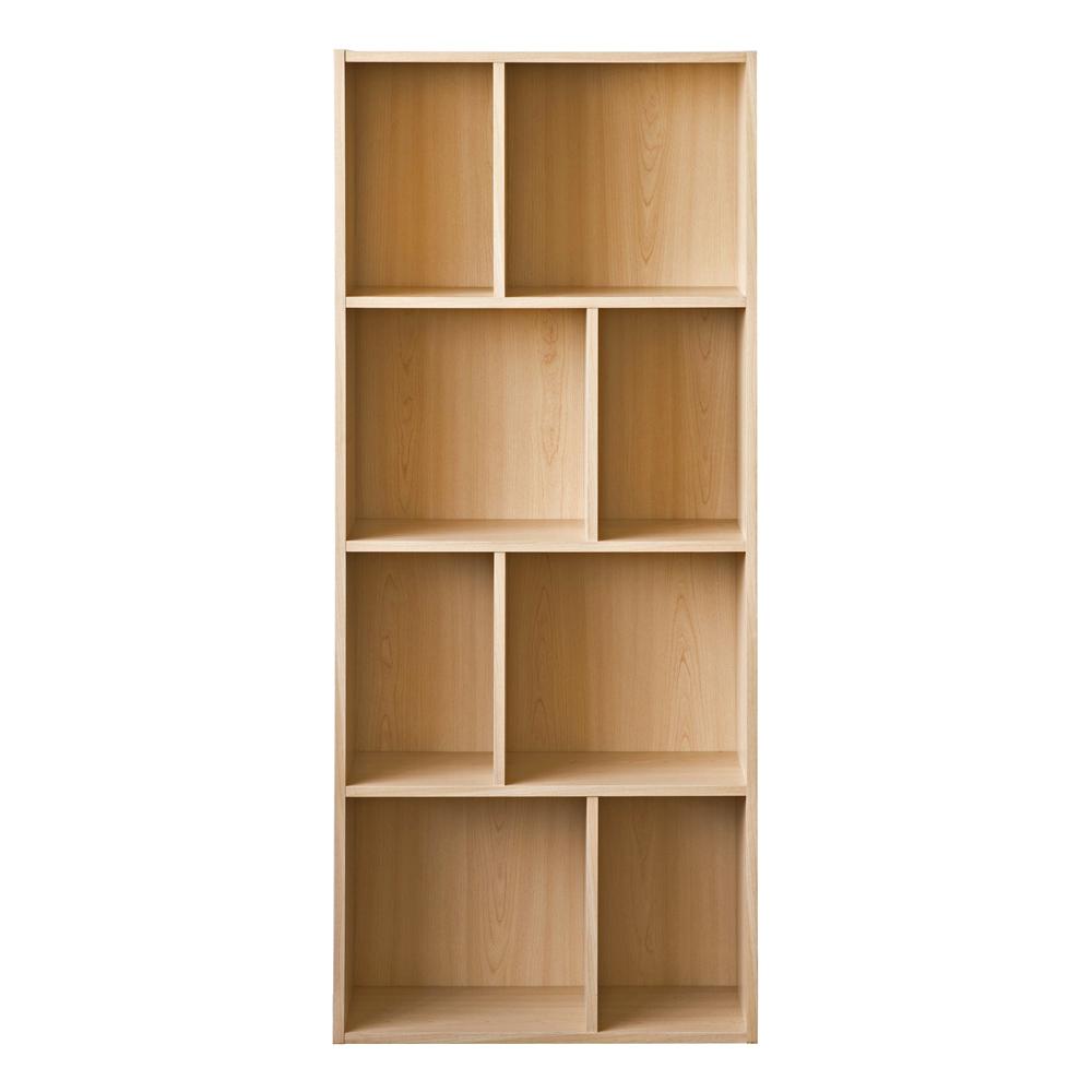 TZUMii 超穩固和風四層八格櫃-木紋色