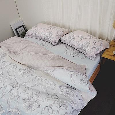 絲薇諾 40支天絲 娜芙蒂蒂 加大四件式-薄床包鋪棉被套組