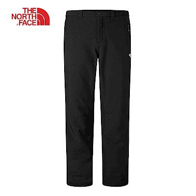 The North Face北面男款黑色防風保暖抓絨長褲|CNK4JK3