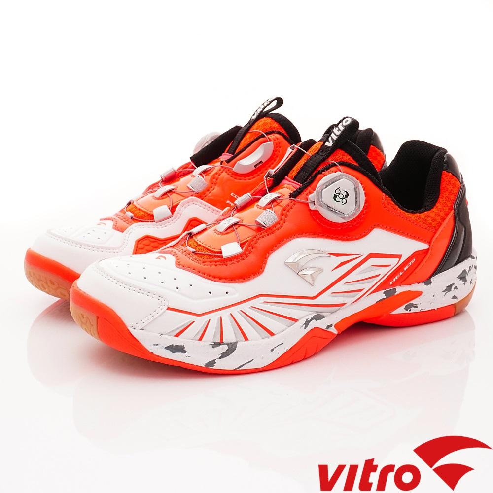 Vitro韓國專業運動品牌-HELIOS IV DX羽球鞋-白桔(男)