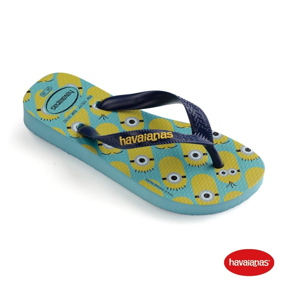 Havaianas 哈瓦仕 拖鞋 夾腳拖 人字拖 巴西 男女鞋 藍/深藍 4133167-0245U Minions 小小兵