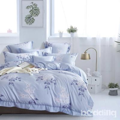 BEDDING-3M專利+頂級天絲-6X7尺特大薄床包三件組-夏日庭榭-藍
