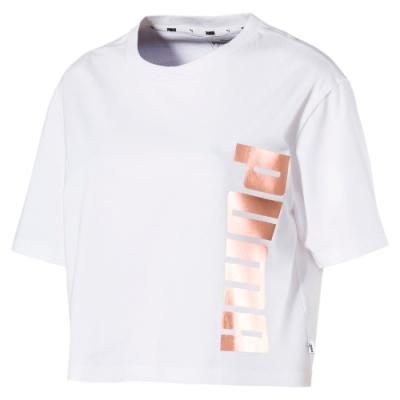 PUMA-女性基本系列Holiday短袖T恤-白色-歐規