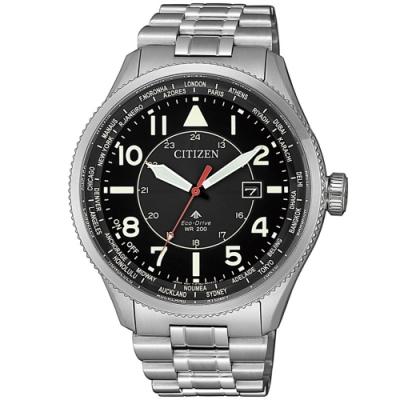 CITIZEN星辰 PROMASTER光動能萬年曆手錶(BX1010-53E)