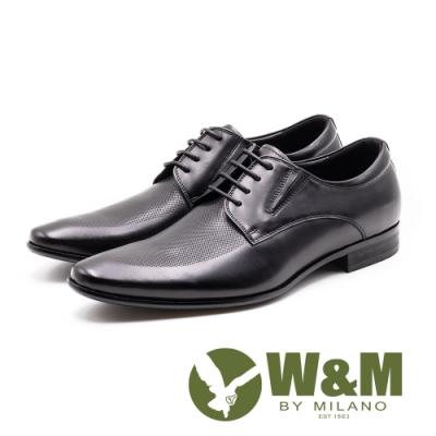 W&M 完美菱紋 紳士綁帶德比鞋 男皮鞋 - 黑(另有咖)