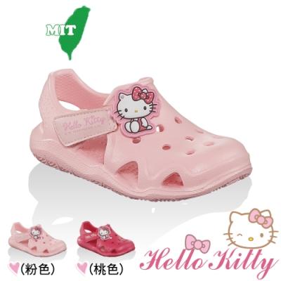(雙11)Hello Kitty童鞋 極輕量Q彈洞洞涼鞋-粉.桃
